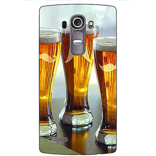 Enhance Your Phone Beer Glasses Back Cover Case For LG G4