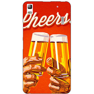 Enhance Your Phone Beer Quote Cheers Back Cover Case For Lenovo K3 Note