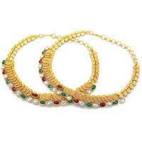Sukkhi Incredible Jalebi Gold Plated AD Anklet For Women