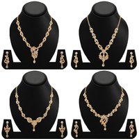 Sukkhi Finely Gold Plated AD Combo Necklace For Women