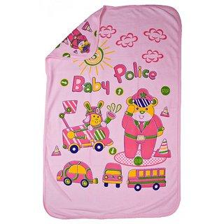 Love Baby Bath Towel 1921 Super Fine Tery Cartoon Print (Pink)