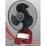 Double Battery Jumbo 12 Inch Oscillating Rechargeable Emergency Fan With Light