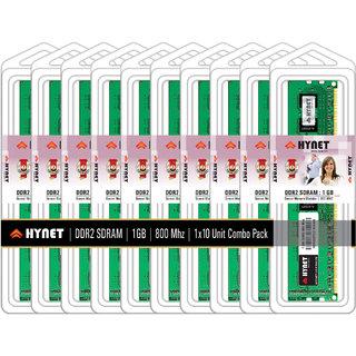 Hynet Desktop DDR2 SDRAM1 GB 800 MHZ (Combo Pack of 10)
