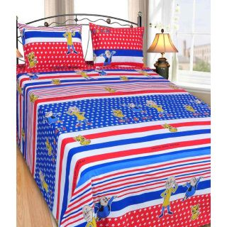 Shopgalore Cotton Double Bedsheet with 2 Pillow Covers(RT-11)