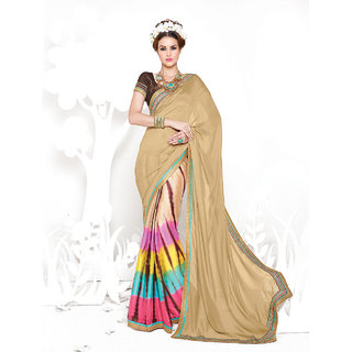 Thankar Brown Heavy Georgette Designer Saree