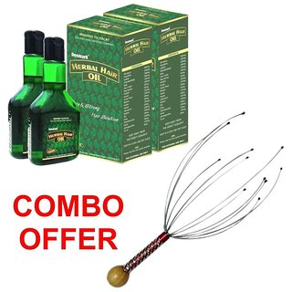 Deemark New Herbal Hair Oil Combo Pack(1+1) WITH BOKOMO AS FREEBIE