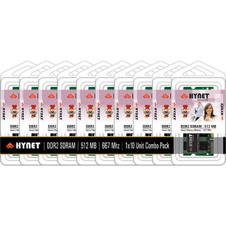 Hynet Laptop DDR2 SDRAM512 MB 667 MHZ (Combo Pack of 10)
