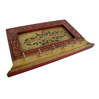 Indian Hand Made Wooden Hand Painted Key Hanger  - Option 2