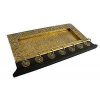 Indian Hand Made Wooden Brass Key Hanger  - Option 1