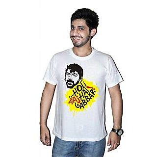 Printed Holi T-shirts By Mitr Stores For Men Gabbar Holi Aaj Hai