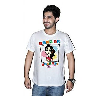 Printed Holi T-shirts By Mitr Stores For Men Rang De Basanti