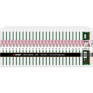 Hynet Desktop DDR3 SDRAM 2 GB 1333 MHZ (Combo Pack of 25)