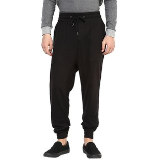 Hypernation Double Drop Crotch Pant With Black Color Cotton
