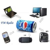 MULTIMEDIA SPEAKER PEPSI COKE Etc CAN STYLE MP3 MICRO SD SLOT 4GB USB SLOT FM