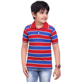 Dongli Boys Airtex Striped Polo Tshirt