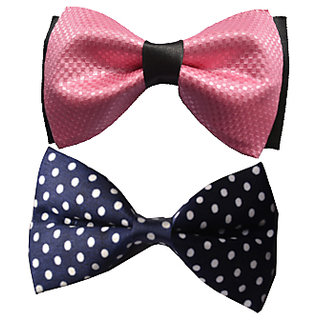 Wholesome Deal multi coloured neck bow tie (Pack of two)