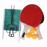 SET OF 2 Table Tennis Racket with 3 Balls,Net and stand