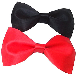 Wholesome Deal black and red neck bow tie (Pack of two)