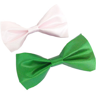 Wholesome Deal green and pink neck bow tie (Pack of two)