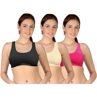 Selfcare Set Of 3 WomenS Sports Bras (SN0595)