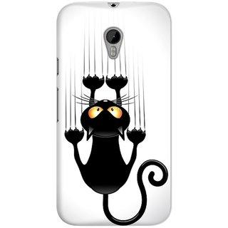 Dreambolic Black-Cat-Cartoon Plastic Back Case Cover For Moto G3