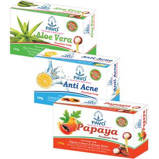 PAVO Aloe Vera Papaya Anti Acne Premium Soap