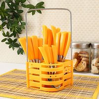 24 Pcs. Rosa Cutlery Set With Stand