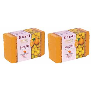 Khadi Mauri Lemon Soap - Pack of 2 - Premium Handcrafted Herbal