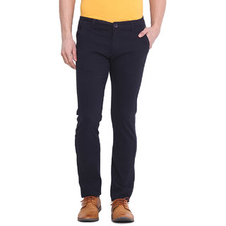 Virtue Men Blue Casual Slim Fit Trouser (VRT99STR-CT)
