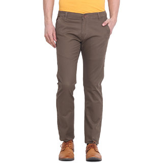Virtue Men Brown Casual Slim Fit Trouser (VRT104STR-CT)