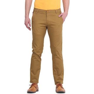 Virtue Men Khaki Casual Slim Fit Trouser (VRT105STR-CT)