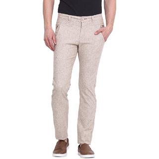 Virtue Men Beige Casual Slim Fit Trouser (VRT94STR-CT)