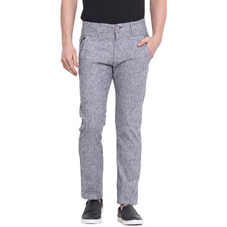 Virtue Men Grey Casual Slim Fit Trouser (VRT93STR-CT)