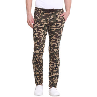 Virtue Men Green Casual Slim Fit Trouser (VRT95STR-CT)