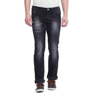 Virtue Men's Black Slim Fit Jeans