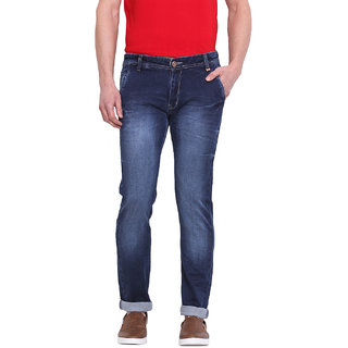 Virtue Men's Blue Slim Fit Jeans