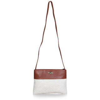 Paprika Off White Colour Handbag