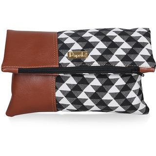 Paprika Black  White Colour Handbag