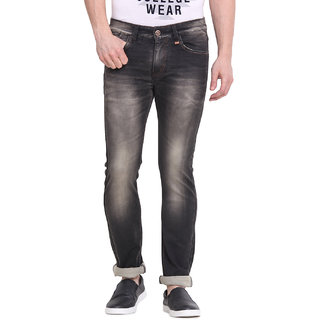 Virtue Men Black Casual Slim Fit Jeans (VRT89STR-SP)