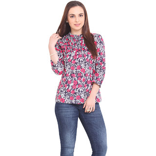 La Stella Women Pink Cotton Casual Top (L16143-PINK)