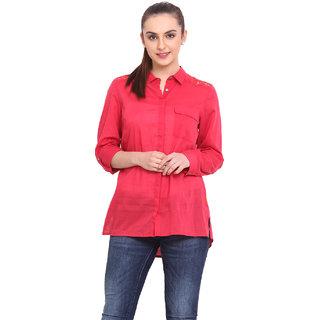 H.O.G. Women Pink Cotton Casual Shirt (UCI009-B)