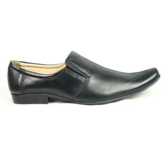 JerryMouse.in Mens Black Leather Formal Shoes - MFOR0001