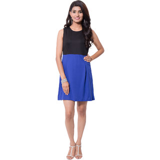 Viba London Bow Dress Blue