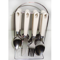 24 Pcs. Delta Cutlery Set With Stand