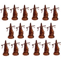 Desi Karigar Beautiful Unique Hand Carved Rosewood Nose-Shaped Eyeglass Spectacle Holder Wholesale Pack (Set Of 17)