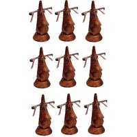 Desi Karigar Beautiful Unique Hand Carved Rosewood Nose-Shaped Eyeglass Spectacle Holder Family Pack (Set Of 9)