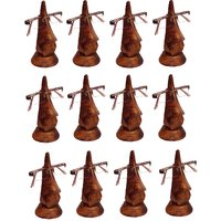 Desi Karigar Beautiful Unique Hand Carved Rosewood Nose-Shaped Eyeglass Spectacle Holder Wholesale Pack (Set Of 12)