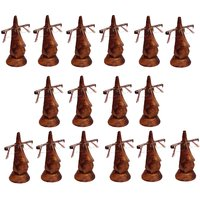 Desi Karigar Beautiful Unique Hand Carved Rosewood Nose-Shaped Eyeglass Spectacle Holder Wholesale Pack (Set Of 16)