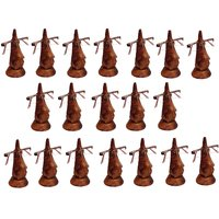 Desi Karigar Beautiful Unique Hand Carved Rosewood Nose-Shaped Eyeglass Spectacle Holder Wholesale Pack (Set Of 19)