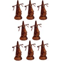 Desi Karigar Beautiful Unique Hand Carved Rosewood Nose-Shaped Eyeglass Spectacle Holder Family Pack (Set Of 8)